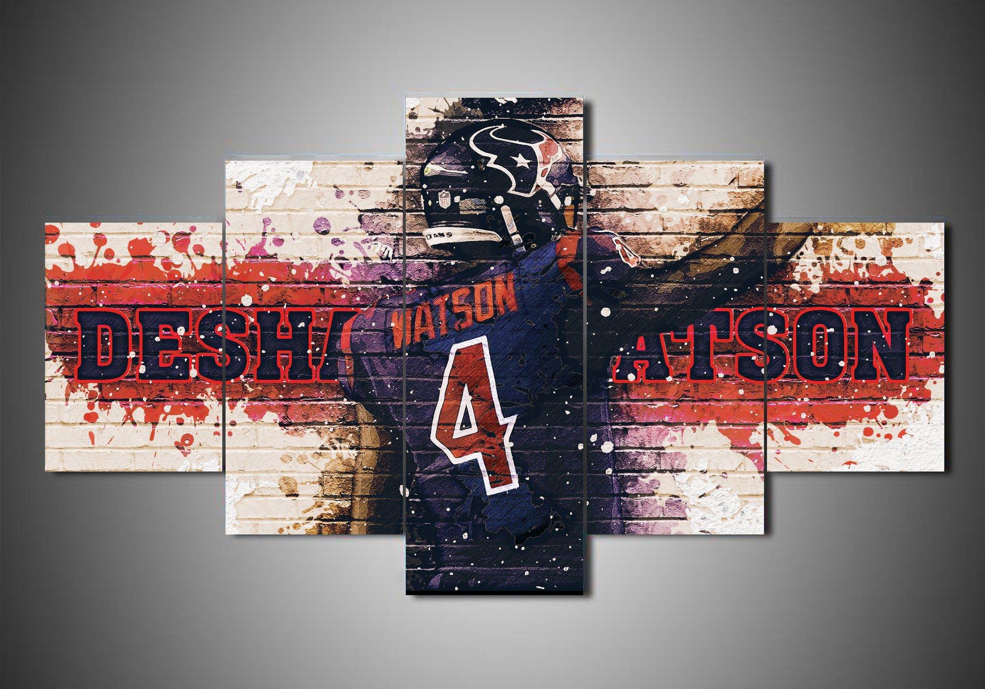Houston Texans Deshaun Watson Sport 5 Panel Canvas Art Wall