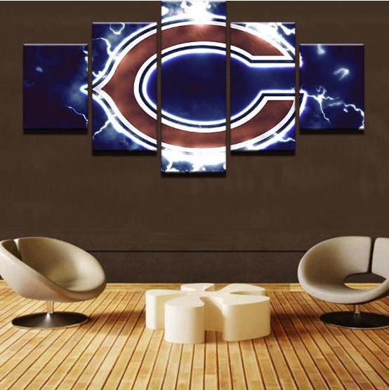 Chicago Bears Home Decor: Sport 5 Panel Canvas Art Wall