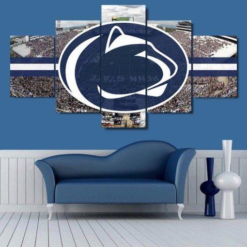Penn State Nittany Lions Stadium Sport 5 Panel Canvas Art Wall