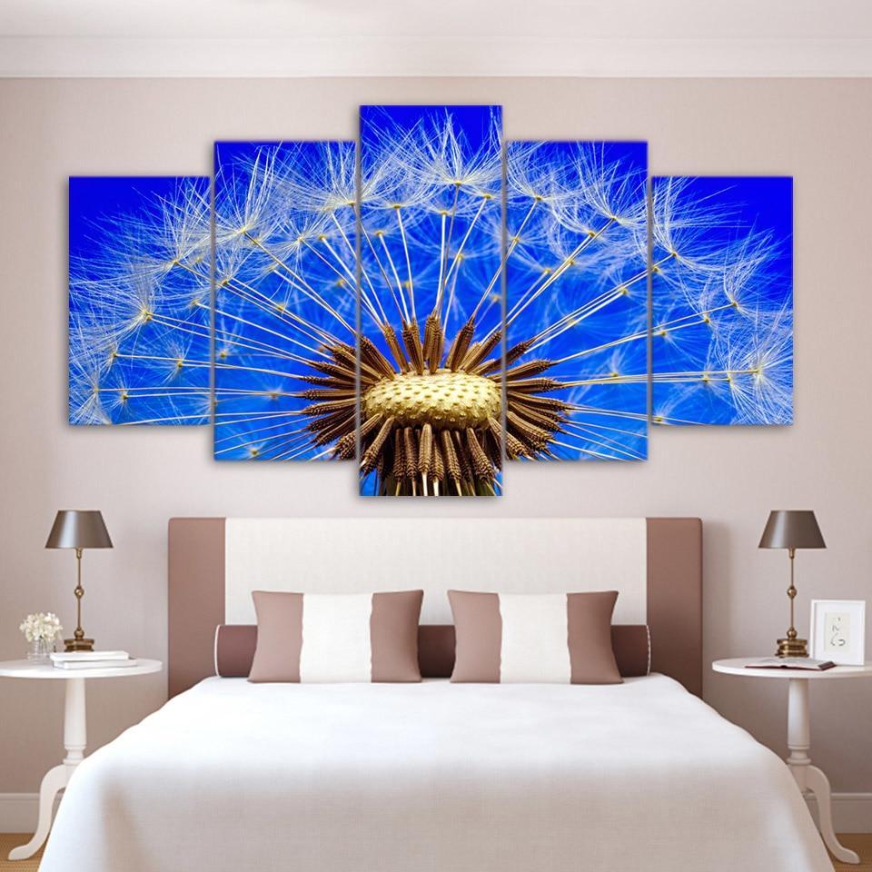 Blur Dandelion In The Sky Framed Art Print By Artlindley: Dandelion In The Blue Sky Beautiful Plant