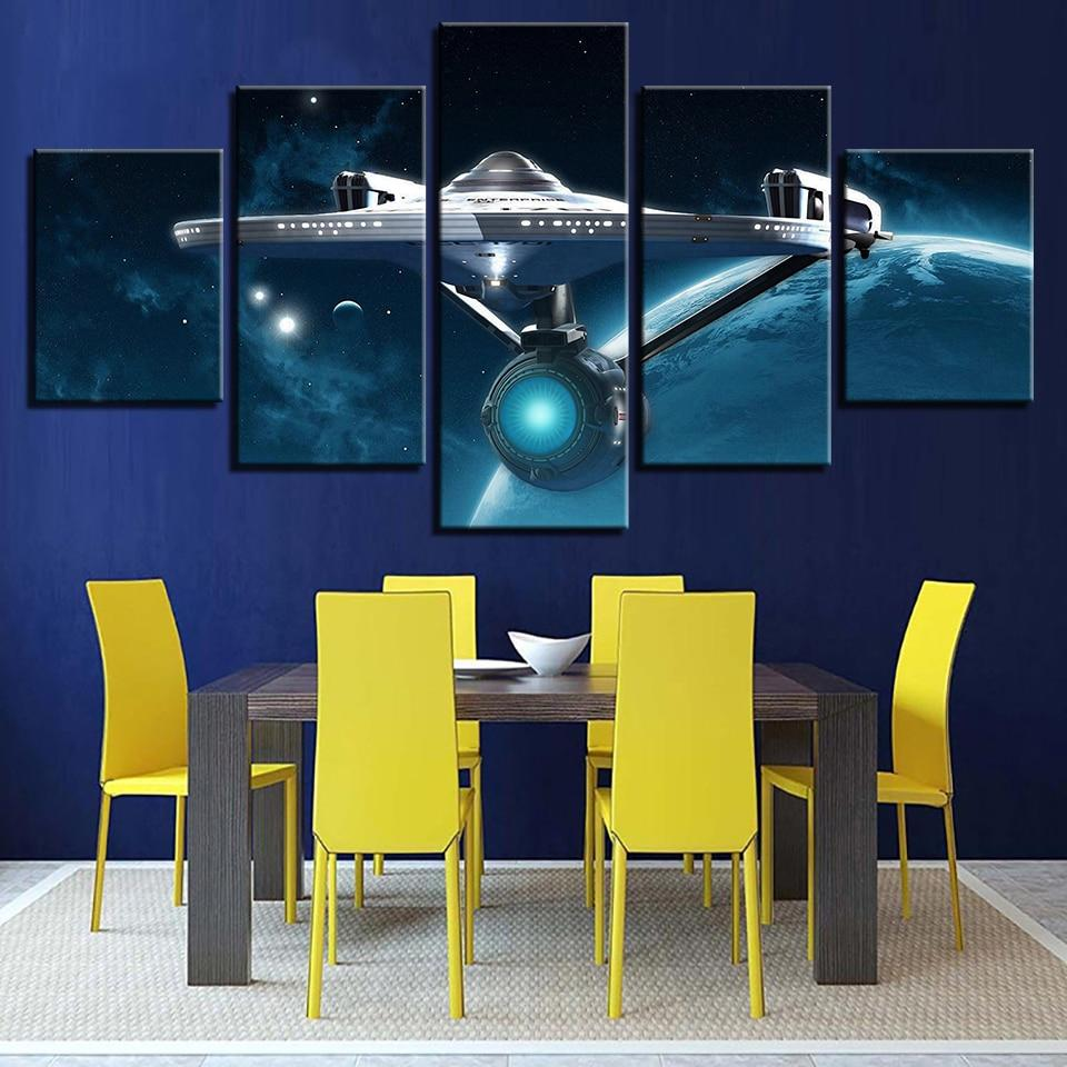Star Trek 11 Movie 5 Panel Canvas Art Wall Decor