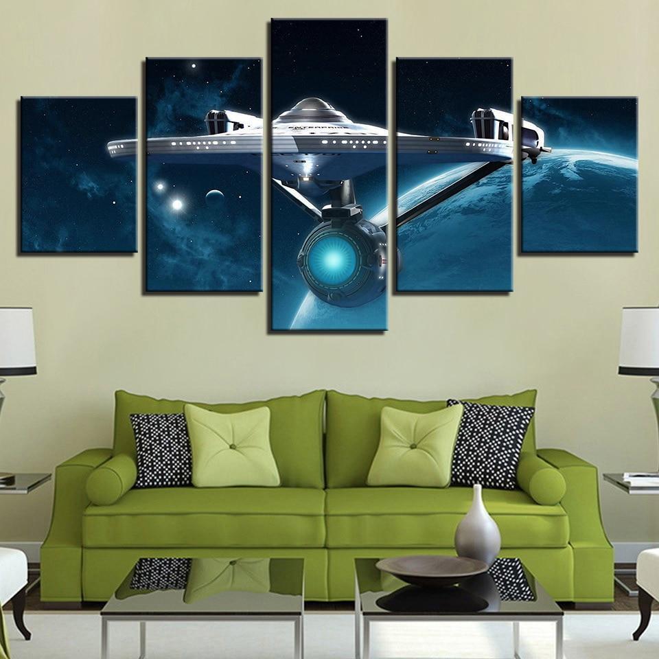 Star Trek 11 - Movie 5 Panel Canvas Art Wall Decor ...