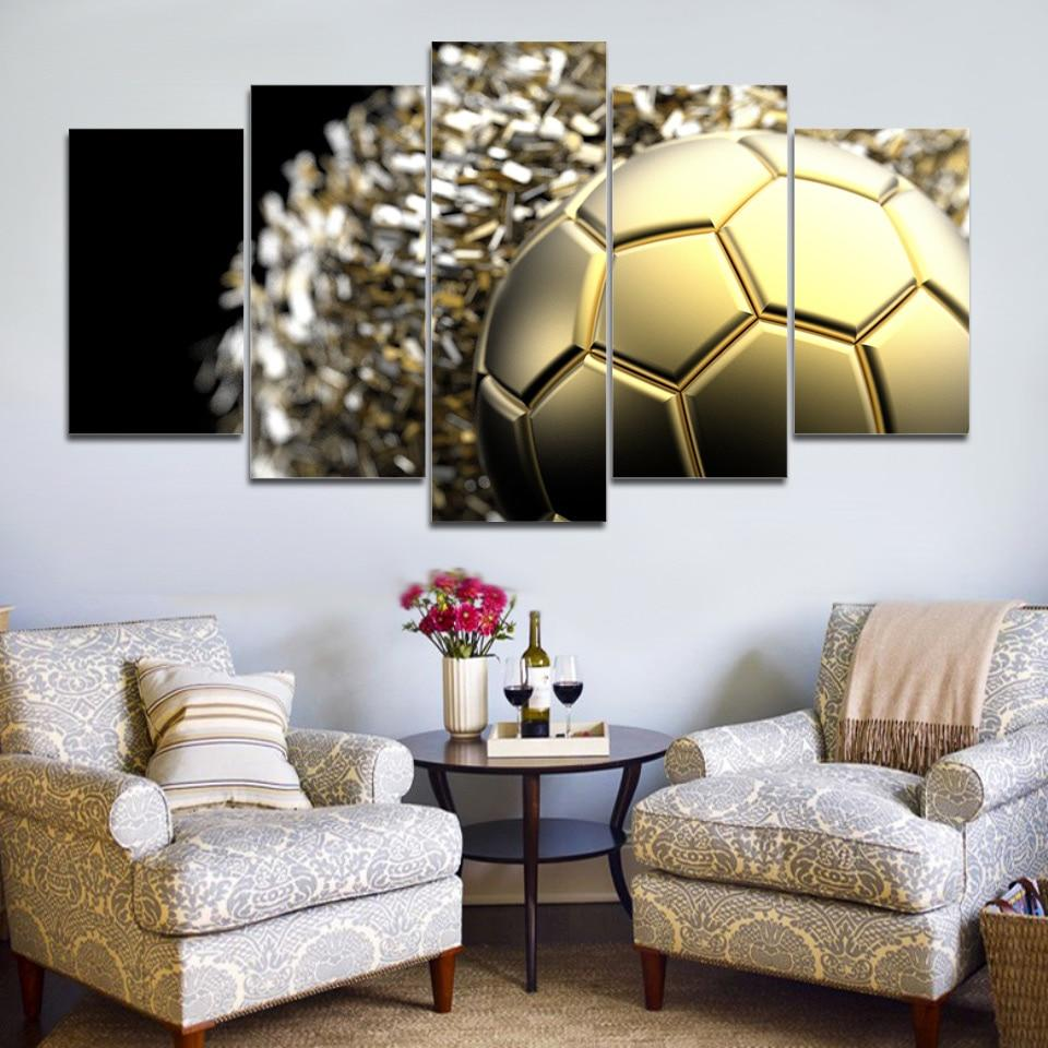 Basketball Energy Flame Sport 5 Panel Canvas Art Wall Decor