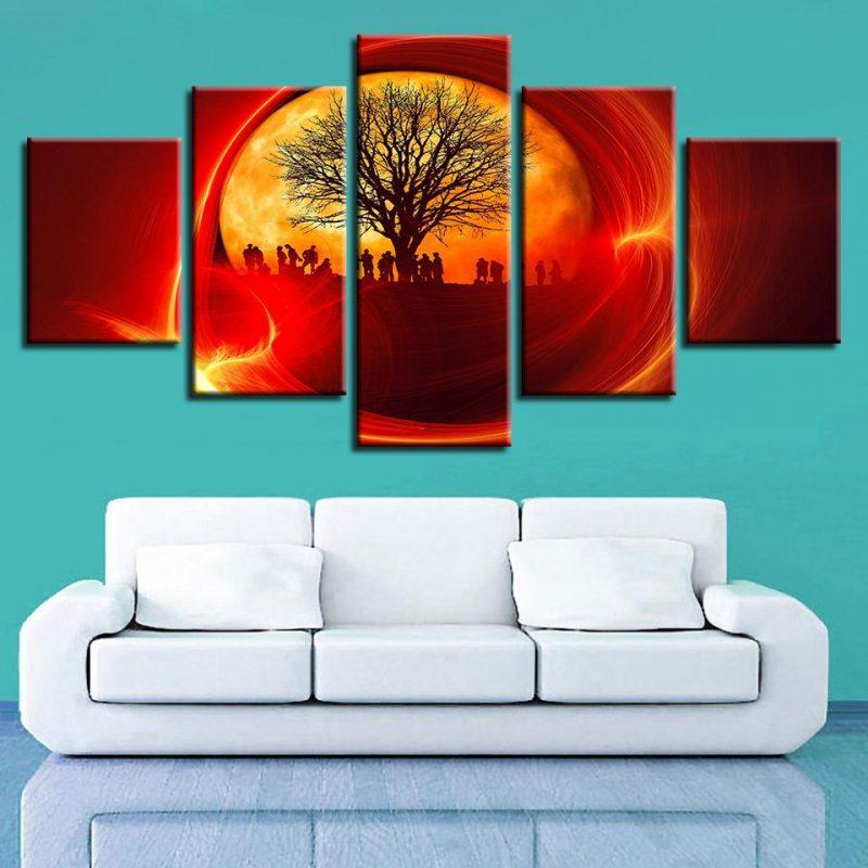 Постеры на стену абстракция и солнце