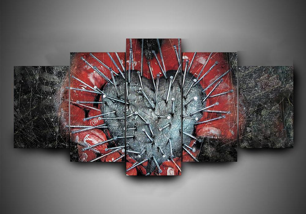Killswitch Engage 1 Music 5 Panel Canvas Art Wall Decor Canvas Storm