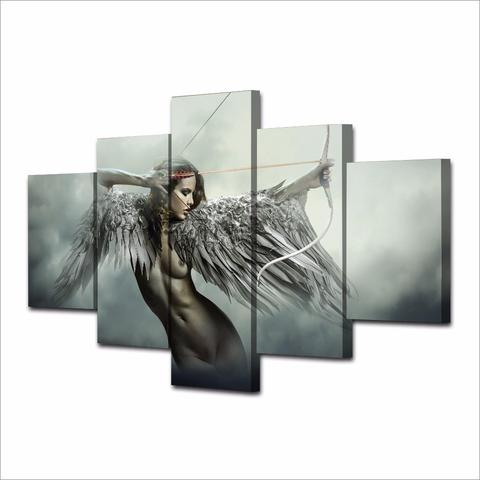 "FANTASY ANGEL WINGS Warrior  wall art   CANVAS 30/""x20/"""