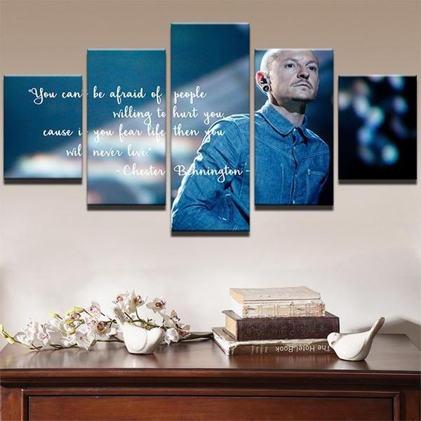 Linkin Park Chester Bennington Famous Person 5 Panel Canvas Art Wall Decor Canvas Storm