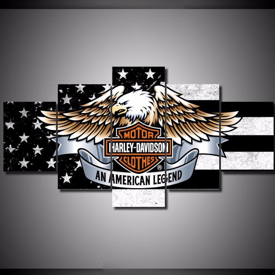 Harley Davidson Logo Wall Decorations from canvasstorm.com