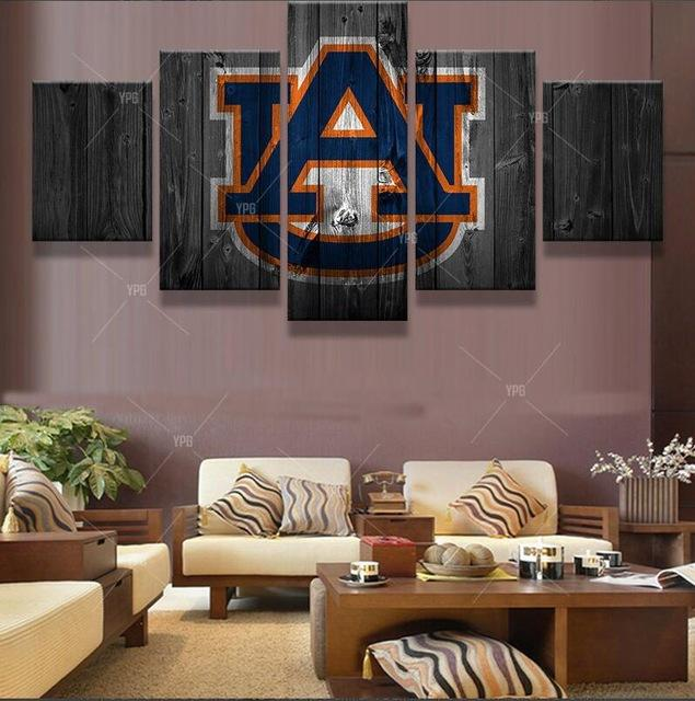 Auburn Tigers Sports - Sport 5 Panel Canvas Art Wall Decor