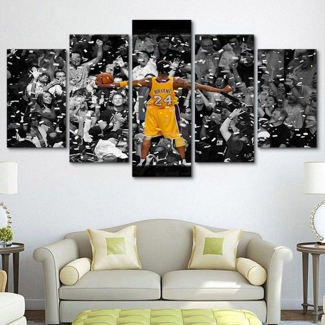 differently f588f 5a4e0 Los Angeles Lakers Kobe Bryant – Sport 5 Panel Canvas Art Wall Decor ...