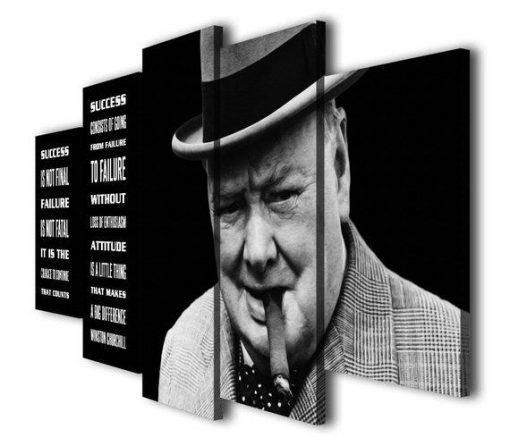 a25e8729b8c57 Winston Churchill 1 – Famous Person 5 Panel Canvas Art Wall Decor ...