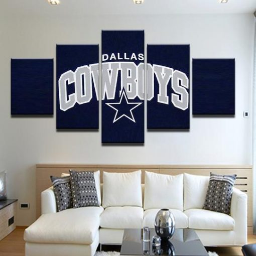 5 Panel Dallas Cowboys Canvas Prints Painting Wall Art Nfl: Sport 5 Panel Canvas Art Wall Decor-CV