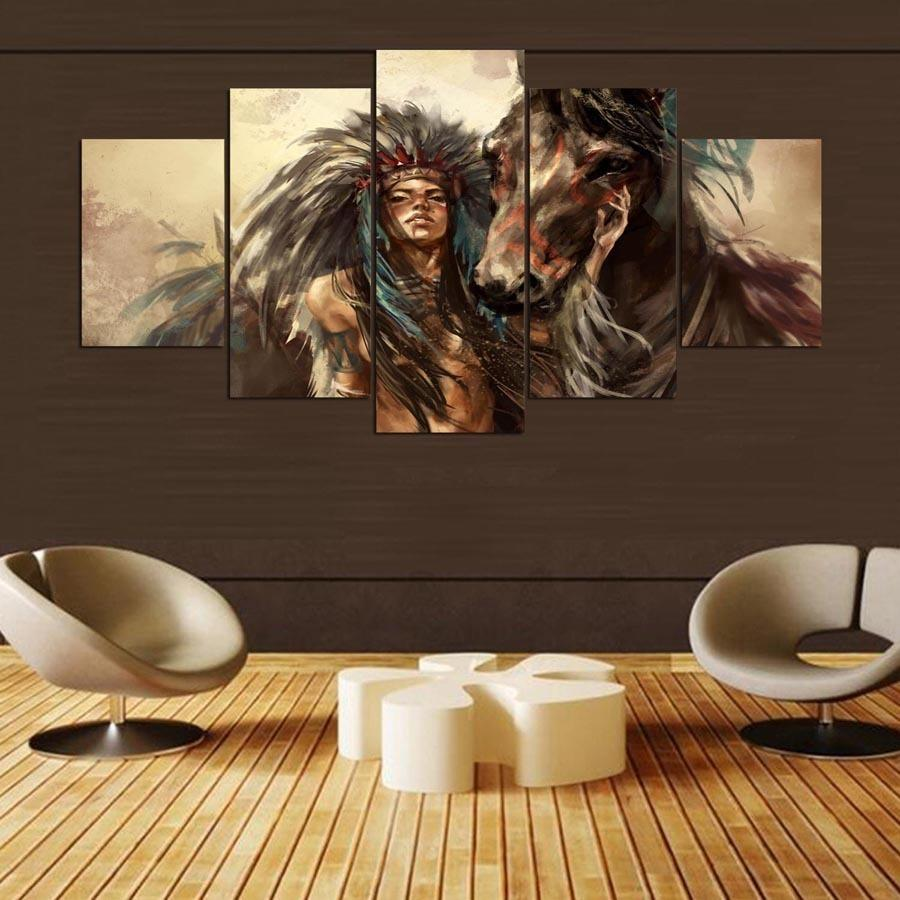 5 Panel Canvas Art Print Wall Picture