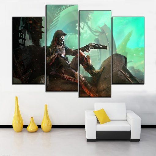 23125-NF Destiny 2 Shooter Gaming 4 Pieces - 4 Panel Canvas Art Wall Decor