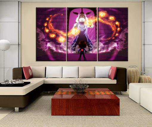 23058-NF Undertale Frisk Toriel Gaming 3 Pieces - 3 Panel Canvas Art Wall Decor