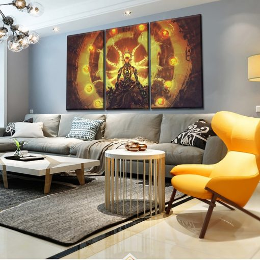 22833-NF Overwatch Zenyatta Poster 1 Gaming 3 Pieces - 3 Panel Canvas Art Wall Decor