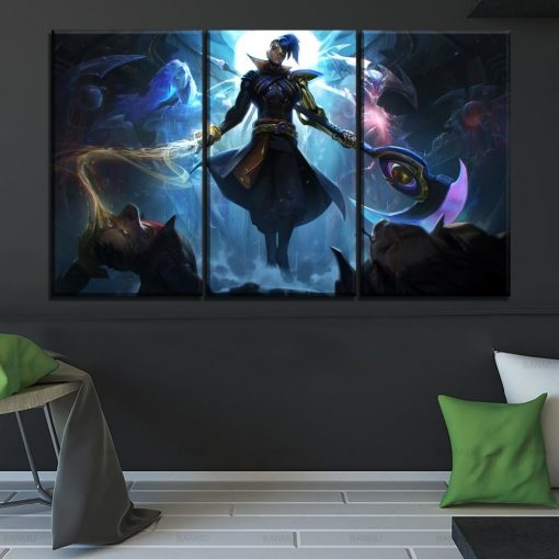 23185-NF LOL League Of Legends Kayn Poster 1 Gaming 3 Pieces - 3 Panel Canvas Art Wall Decor