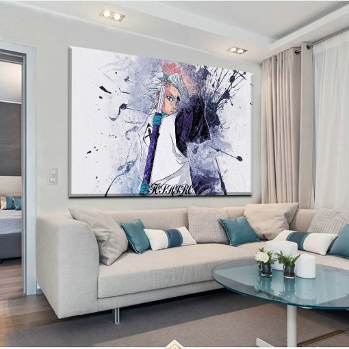 23171-NF Bleach Toshiro Hitsugaya Poster 1 Anime 1 Piece - 1 Panel Canvas Art Wall Decor