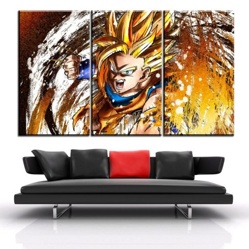 23176-NF Dragon Ball Goku 8 Anime 3 Pieces - 3 Panel Canvas Art Wall Decor