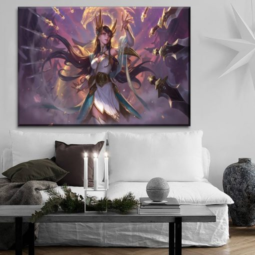 23173-NF LOL League Of Legends Divine Sword Irelia Poster 2 Gaming 1 Piece - 1 Panel Canvas Art Wall Decor