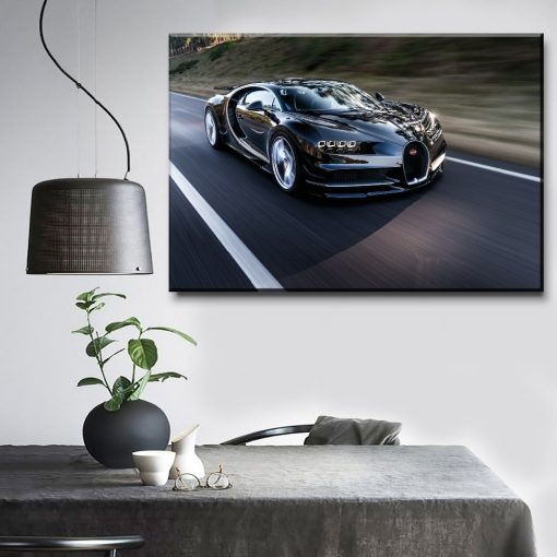 23097-NF Black Supercar Bugatti Chiron Car 1 Piece - 1 Panel Canvas Art Wall Decor