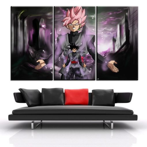 23175-NF Dragon Ball Super Saiyan 5 Anime 3 Pieces - 3 Panel Canvas Art Wall Decor