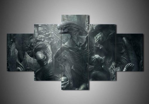 23592-NF Alien Covenant 2 Movie - 5 Panel Canvas Art Wall Decor