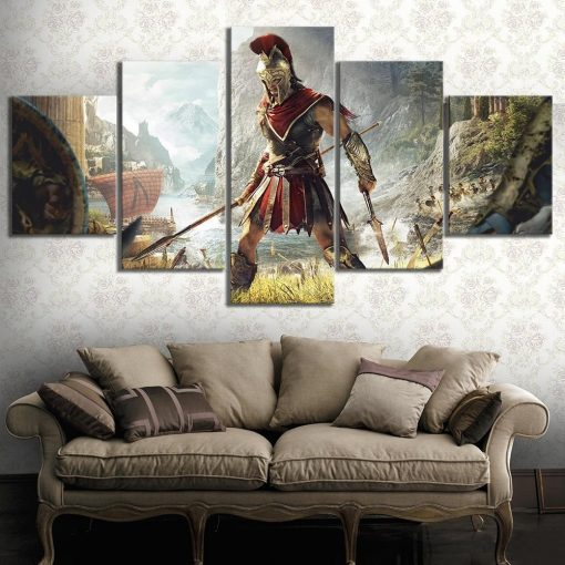23594-NF Assassin's Creed Odyssey Poster Gaming - 5 Panel Canvas Art Wall Decor