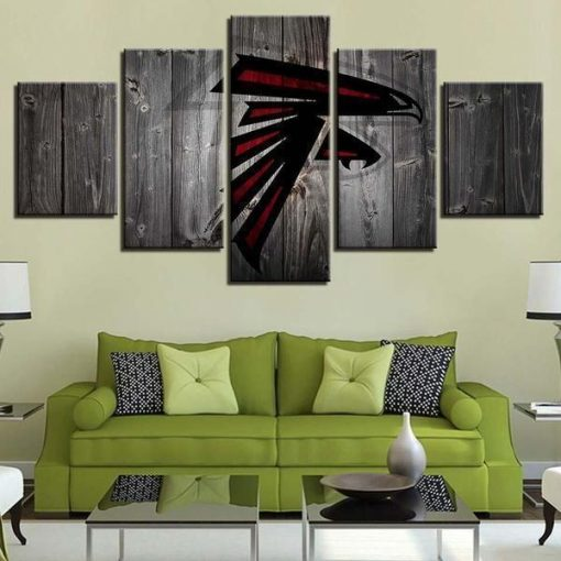 23590-NF Atlanta Falcons Football - 5 Panel Canvas Art Wall Decor