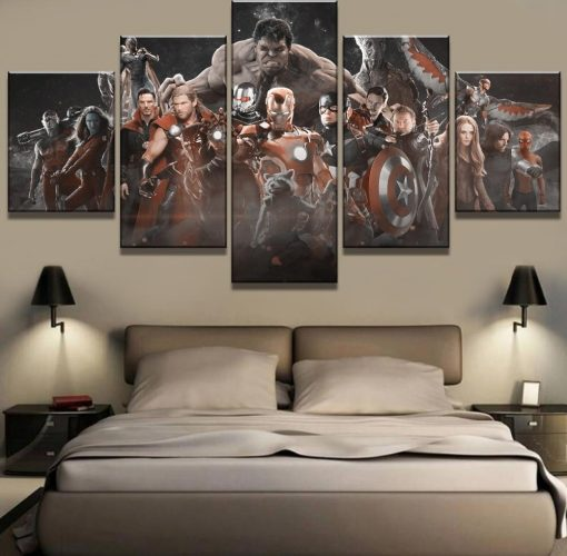23580-NF Avengers Infinity War Movie - 5 Panel Canvas Art Wall Decor