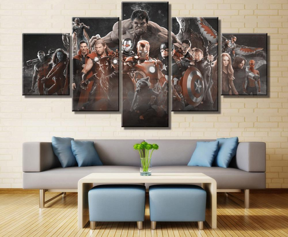 Infinity War Official Odeon 5 Split Canvas Pictures 24x24Inch Marvel Avengers