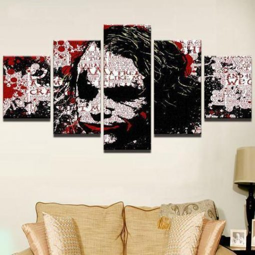 23583-NF Batman Joker Abstract DC - 5 Panel Canvas Art Wall Decor