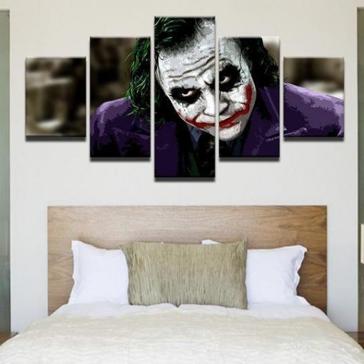 23586-NF Batman Joker Heath Ledger DC - 5 Panel Canvas Art Wall Decor