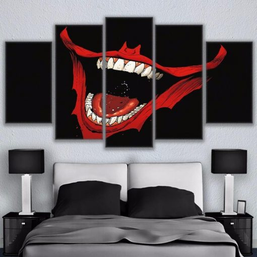 23585-NF Batman Joker Smile Ation DC - 5 Panel Canvas Art Wall Decor
