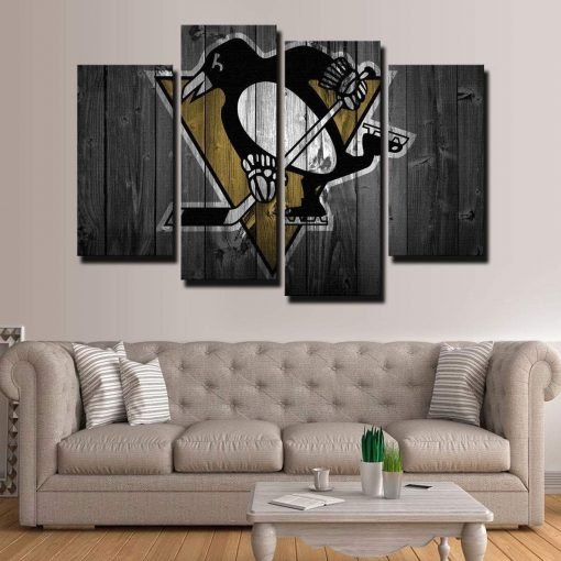 22407-NF Pittsburgh Penguins Sport 4 Pieces - 4 Panel Canvas Art Wall Decor