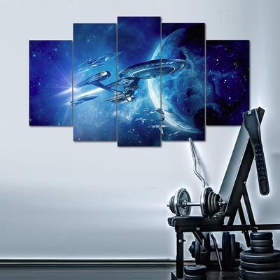 STAR TREK The Starship Enterprise Canvas Framed Print ~ 4 Panels